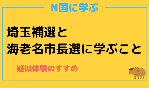 N国,立花孝志,nhkをぶっ壊す,疑似体験,学び,埼玉補選,海老名市長選